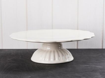 IB Laursen MYNTE Tortenplatte Creme Weiß Keramik Kuchenplatte BUTTER CREAM