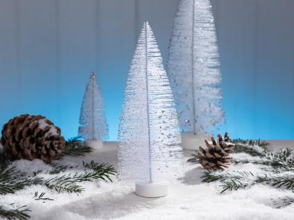 Deko Aufsteller TANNENBAUM weiß 25 cm Dekofigur Weihnachten Weihnachtsdeko Tisch