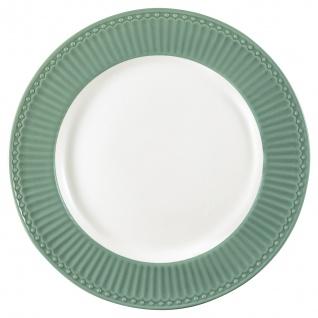 Greengate Teller ALICE Grün 26.5 cm Essteller Everyday Geschirr DUSTY GREEN