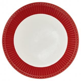Greengate Teller ALICE Rot 23 cm Kuchenteller Everyday Geschirr Frühstücksteller