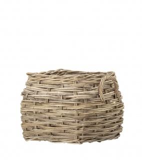 Bloomingville Ratten Korb Set Eckig mit Griffen 42x40 cm Wäschekorb Pflanzenkorb