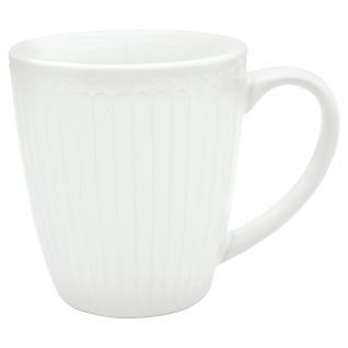 Greengate Becher ALICE Weiß 400 ml Kaffeebecher Everyday Geschirr Serie WHITE