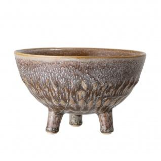 Bloomingville Blumentopf mit Füssen Braun 17.5 cm Keramik Übertopf Höhe 11.5 cm