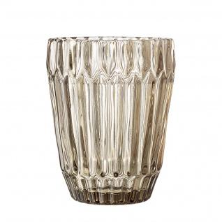 Bloomingville Glas braun Trinkglas Wasserglas 10 cm 230 ml schwere Ausführung