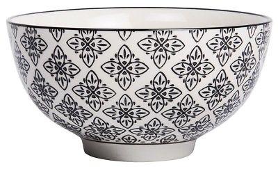 IB Laursen Schale Casablanca schwarz weiß groß Blumen Geschirr Keramik Schüssel