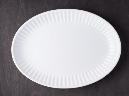 IB Laursen MYNTE Servierplatte 30 cm Weiß Keramik Geschirr Teller PURE WHITE