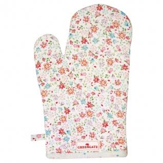 Greengate Ofenhandschuh CLEMENTINE Weiß Blumen Grill Handschuh BBQ Handschuh