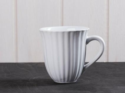 IB Laursen MYNTE Becher Rillen Weiß PURE WHITE Keramik Geschirr Tasse 250 ml