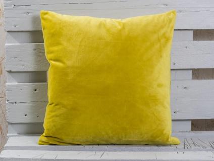 Pad Kissen SMOOTH Mustard Kissenhülle 50x50 samt weich senf-gelb Kissenbezug