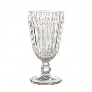 Bloomingville Weinglas weiß Trinkglas Saftglas 210 ml 16 cm schwere Ausführung