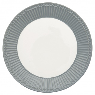 Greengate Teller ALICE Grau 23 cm Kuchenteller Everyday Geschirr STONE GREY