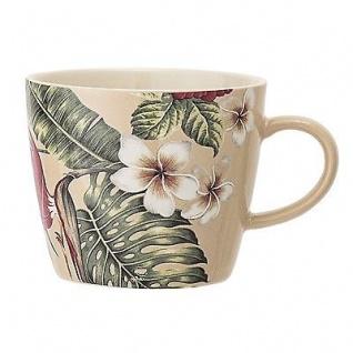 Bloomingville Tasse Aruba mit Blumen Blüten Keramik Geschirr Becher mit Henkel