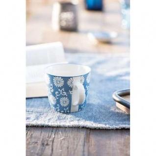 IB Laursen Becher LIVA staubig blau weiß Blumen Muster Tasse mit Henkel - Vorschau 5