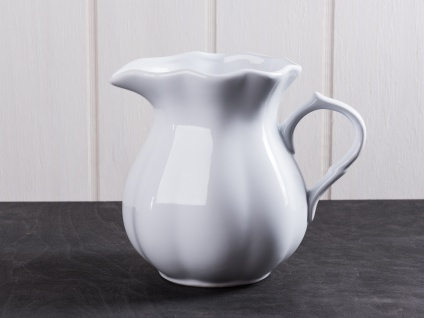 IB Laursen MYNTE Kanne 1 Liter Weiß Keramik Geschirr PURE WHITE Krug Karaffe