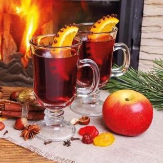 Weihnachtsdeko Aus Birke.Ambiente Servietten Glühwein Zimt Orange Weihnachten Weihnachtsdeko 20 Stk 33x33