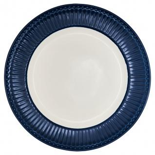 Greengate Teller ALICE Blau 26.5 cm Essteller Everyday Geschirr DARK BLUE