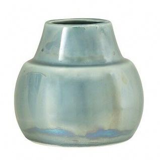 Bloomingville Vase Paula blau metallic 10.5 cm Keramik Blumenvase