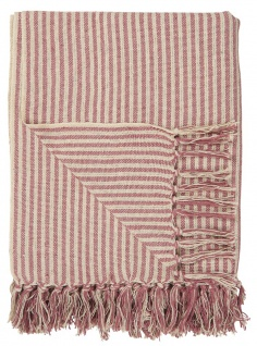 IB Laursen PLAID Creme Malva Decke Baumwolle 130x160 Wolldecke Kuscheldecke