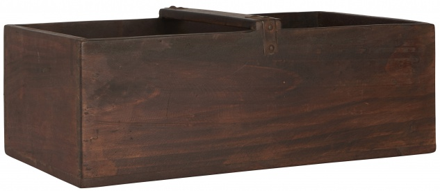 IB Laursen Kiste mit Henkel UNIKA Holz Unikat Holzkiste 30x50 cm Recyclingholz