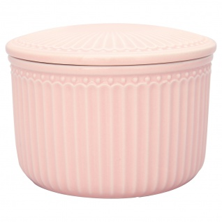 Greengate Vorratsdose mit Deckel ALICE Pale Pink Rosa Klein 9x13 cm Keramik