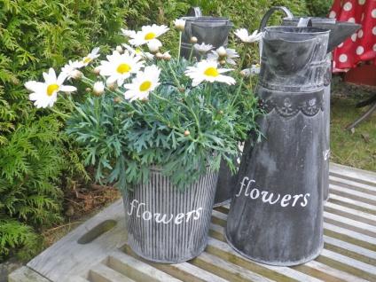 Pflanztopf Henriette 20 cm. Blumentopf Metall Vintage Antik Stil Pflanzentopf - Vorschau 4