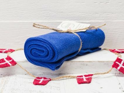 Solwang Küchentuch KOBOLT BLAU gestrickt Putztuch Handtuch Geschirrtuch Gäste