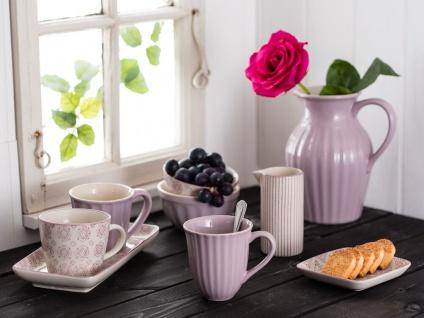 IB Laursen Kanne Casablanca lila weiß 0.2 Liter Streifen Geschirr Milchkännchen - Vorschau 2