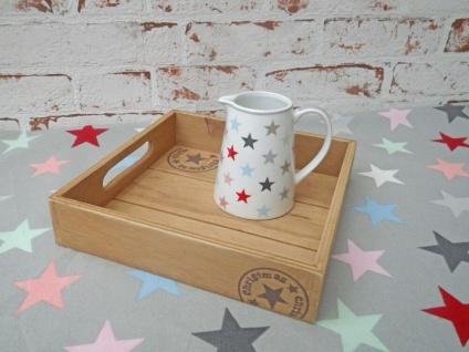 Deko Tablett Christmas Holz 20 cm Weihnachtsdeko Stern Weihnachten