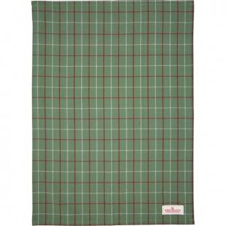 Greengate Geschirrtuch LYLA Grün mit Karo Muster Baumwolle 50x70 Küchentuch