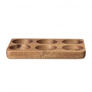 Bloomingville Eier Tablett AKAZIE Holztablett für 6 Eier Serviertablett aus Holz