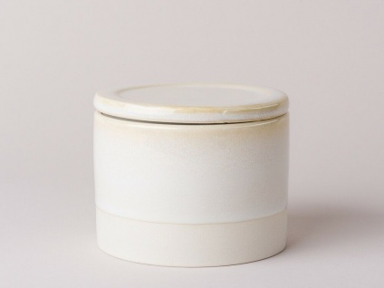 Bloomingville Dose Carrie Keramik mit Deckel 300 ml creme beige