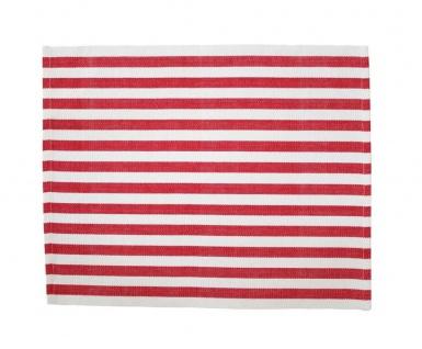 Krasilnikoff Tischset STREIFEN Rot Weiß Baumwolle gestreift Platzset