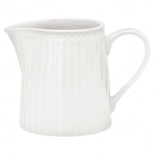 Greengate Milchkännchen ALICE Weiß Sahnekännchen Everyday Geschirr WHITE