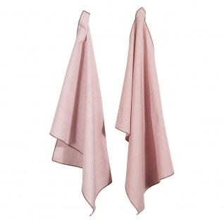 Pad Geschirrtuch CASA pink rosa 2er Set Geschirrhandtuch pad concept Baumwolle g