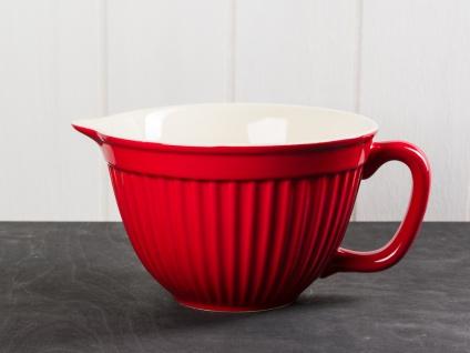 IB Laursen MYNTE Rührschüssel Rot Keramik Geschirr STRAWBERRY 1700 ml Schale