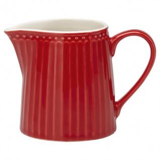 Greengate Milchkännchen ALICE Rot Sahnekännchen Everyday Geschirr RED 6x8.5 cm