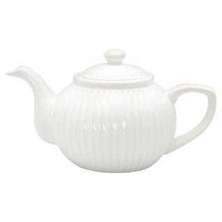 Greengate Teekanne ALICE Weiß Kanne 1 Liter Everyday Geschirr Teapot WHITE