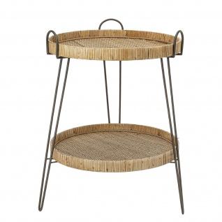 Bloomingville Beistelltisch RATTAN Tisch Tabletttisch Etagere Höhe 71 cm D 57 cm