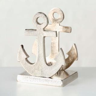 Serviettenhalter ANKER Metall Aluminium Silber Serviettenspender Maritim
