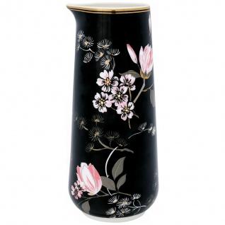 GreenGate Krug AMELIE schwarz Blumen 0.7 Liter Gate Noir Kanne Karaffe Porzellan