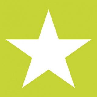 Ambiente Servietten STAR SUMMER GREEN 20 Stück Grün STERN Weiß 3-lagig 33x33
