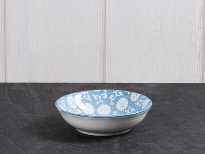 IB Laursen Schale LIVA Mini staubig blau weiß Blumen Geschirr Schüssel Porzellan