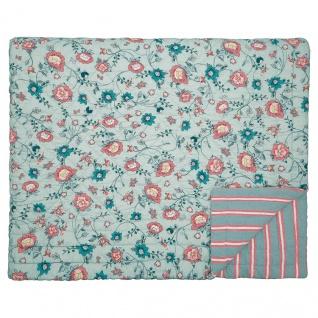 Greengate Quilt SIENNA Dusty Mint 140x220 Tagesdecke Baumwolle Decke Überwurf