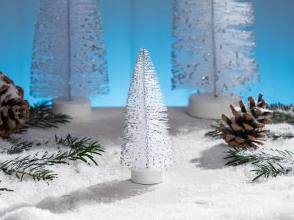 Deko Aufsteller TANNENBAUM weiß 13 cm Dekofigur Weihnachten Weihnachtsdeko Tisch
