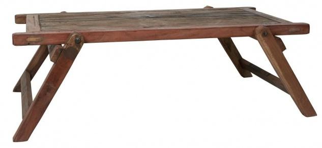 IB Laursen Tisch Coffee Table Unika Holztisch 120x73 cm klappbar Unikat