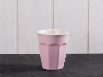 IB Laursen MYNTE Cafe Latte Becher Rosa Keramik Geschirr ENGLISH ROSE 250 ml
