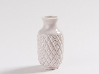 Vase BEA Grau Blumenvase Keramik 10 cm Vase klein