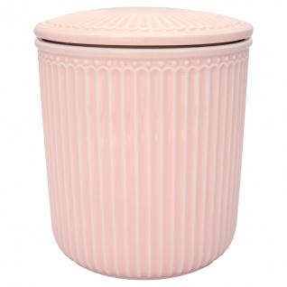 Greengate Vorratsdose mit Deckel ALICE Pale Pink Rosa Medium 13x15 cm Keramik
