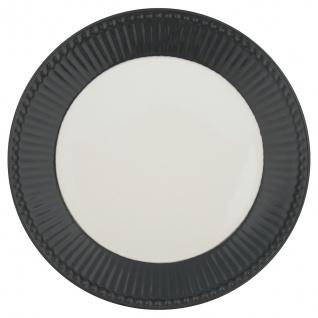 Greengate Teller ALICE Grau 23 cm Kuchenteller Everyday Geschirr DARK GREY