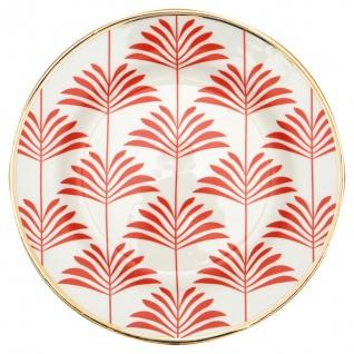 Greengate Teller Gate Noir MAXIME Coral 20 cm Porzellan Geschirr Kuchenteller